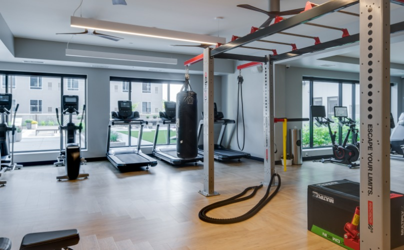 Fitness Center with strength training equipment